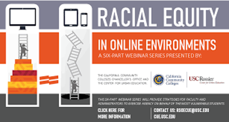 Image for Webinar Series: Racial Equity in Online Environments